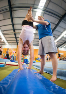 gymnastics coaching handstand