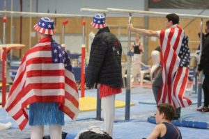 US stars and stripes in gymnastics competition