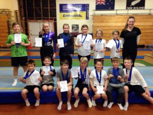 MIGS rec trampoline competition prizegiving