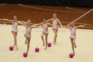 rhythmic ball group performance
