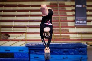 Waitara gymnast on beam