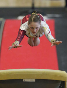Southland gymnast on vault