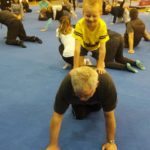 recreational gymnastics boy on piggy back