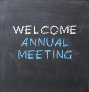 Annual meeting sign