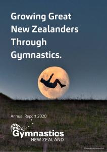 Gymnastics New Zealand 2020 Annual Report